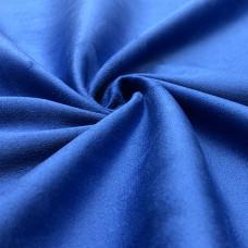 Двусторонняя замша стрейч dinamika plus ярко-синяя