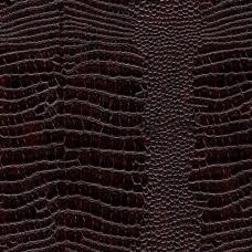 Искусственная кожа, винилискожа крокодил коричневая глянцевая 0,9 мм теневая печать (1331-56)