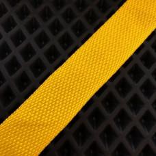 Лента окантовочная стропа для ковриков желтая